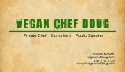 Vegan Chef Doug Business Card
